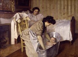 Леопольдо Гарсия Рамон. Купание ребенка