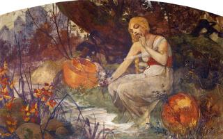 Alphonse Mucha. The prophetess