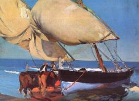 Joaquin Sorolla. Sails