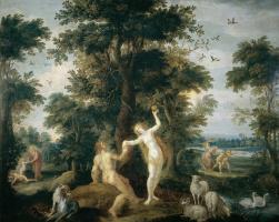 Франс Франкен Младший. Сотворение Евы, грехопадение и изгнание из рая.