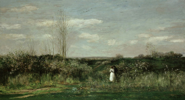 Charles-Francois Daubigny. Spring landscape