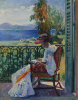 Henri Manguin. Joan on the balcony, Villa Demie