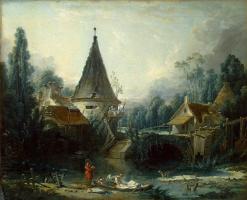 Франсуа Буше. Пейзаж в окрестностях Бовэ