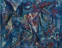 Ли Краснер. Синяя картина