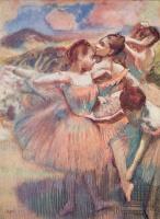 Edgar Degas. Ballerina in a landscape