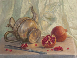 Sergey Alekseevich Makarov. Still life with pomegranates