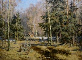"Сергей Михайлович Демин. ""Весна в лесу (Васютино)"""