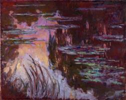 Клод Моне. Водяные лилии, солнечный эффект