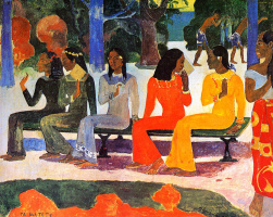Paul Gauguin. Today we will not go to the market