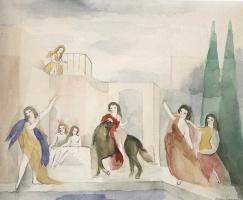 Мари Лорансен. Девушки рядом с бассейном