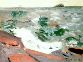 Джон Марин. Розовые скалы и зеленое море