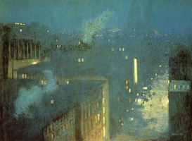 Julian Alden Weir. Nocturne, the Queensboro bridge