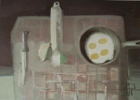Натюрморт с яичницей. 1996