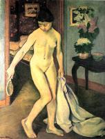 Сюзанна Валадон. Обнаженная с зеркалом