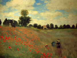 Claude Monet. Field of poppies at Argenteuil