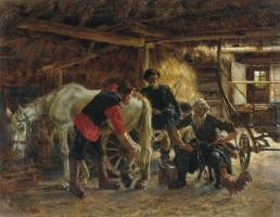 Константин Аполлонович Савицкий. Больная лошадь