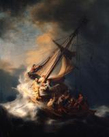 Рембрандт Харменс ван Рейн. Христос во время бури на Галилейском озере