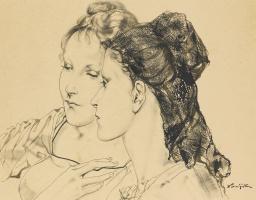 Цугухару Фудзита ( Леонар Фужита ). Women (Mantilla)