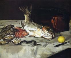 Эдуар Мане. Натюрморт с рыбой