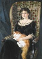 Николай Петрович Богданов-Бельский. Портрет дамы
