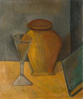 Пабло Пикассо. Горшок, рюмка и книга