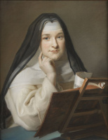 Морис Кантен де Латур. Портрет монахини (приписывается)