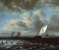 Якоб Исаакс ван Рейсдал. Бурное море