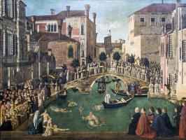 Джентиле Беллини. Реликвия Святого Креста на мосту Сан-Лоренцо в Венеции