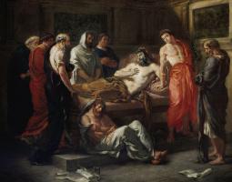 Eugene Delacroix. The Death Of Marcus Aurelius
