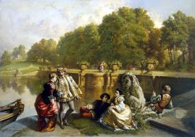Жозеф Хендрик Хуберт Лис. Сцена в парке