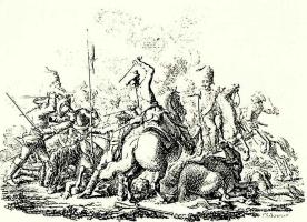 """Даниэль  Николай Ходовецкий. Иллюстрация к сочинению И.Г.Тильке """"Памятные записки к истории войны 1756-1763. В 6 томах"""""""