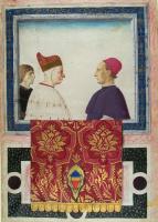 Gentile Bellini. Doge of Venice Andrea Vendramin with the secretary and the papal nuncio