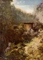 Karl Spitzweg. Mill in the mountains