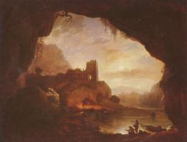 Клод Жозеф Верне. Пейзаж с крепостными руинами