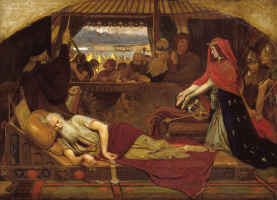 Ford Madox Brown. King Lear and Cordelia