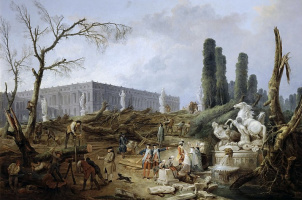 Hubert Robert. The fountains of Apollo in the gardens of Versailles