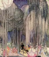 """Кей Нильсен. На пути к танцу. Иллюстрация к книге """"В пудре и кринолине"""". Старинные сказки"""