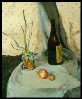 Sergey Alekseevich Makarov. Still life with sprouted onions