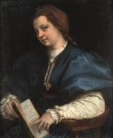 Андреа дель Сарто. Портрет девушки с книгой стихов Петрарки