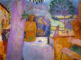 Pierre Bonnard. The terrace at Vernon
