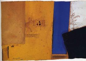 Марк Захарович Шагал. Композиция с козлом