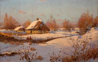 Сергей Иванович Васильковский. Ловля снегирей