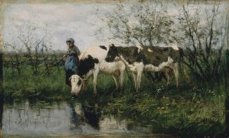 Антон Мауве. Молочница