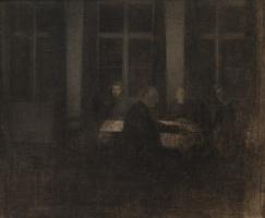 Вильгельм Хаммерсхёй. Вечер в гостиной