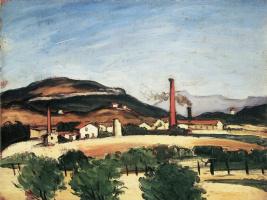 Поль Сезанн. Фабрика рядом с горой Сент-Виктуар