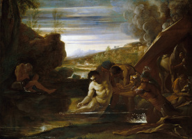 Пьетро Теста. Александр Великий спасает Сиднуса на реке