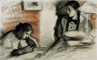Leonid Osipovich Pasternak. The artist's daughter.