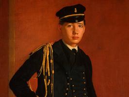 Портрет Акилле Де Газа в мундире кадета ( фрагмент)