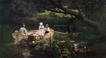 Vasily Dmitrievich Polenov. On the boat. Abramtsevo