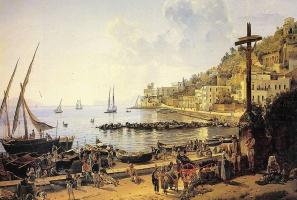 Sylvester Feodosievich Shchedrin. Quay Mergellina in Naples